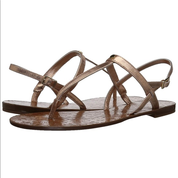 87f50d249282 KATE SPADE Citrine flat sandals rose gold no box